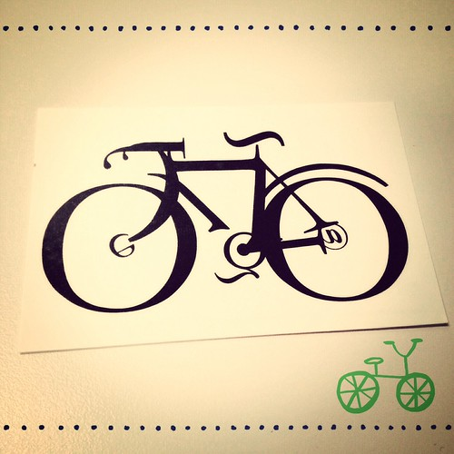 Typography bike temporary tattoo