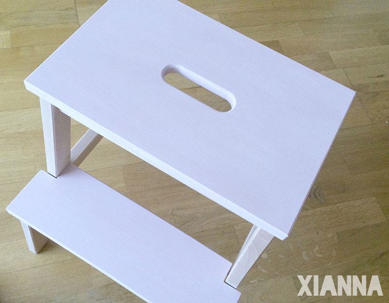 Ikea stool painted with chalk paint