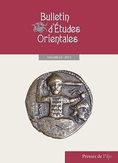 Couverture du Bulletin d'Études Orientales, 62 (2013)