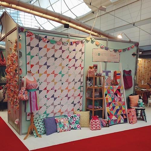 Ready to go! #quiltmarket #geometricbliss #artgalleryfabrics #aurifil