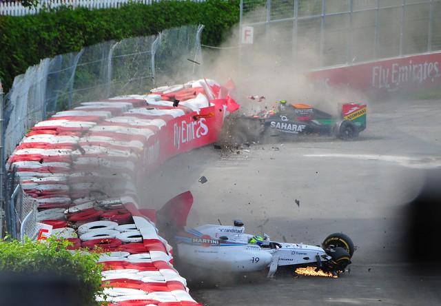 Massa Perez Crash 2014 Canadian Grand Prix 9
