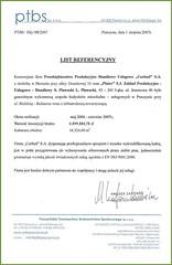 Referencje Pszczyńskiego Towarzystwa Budownictwa Społecznego 2007r.