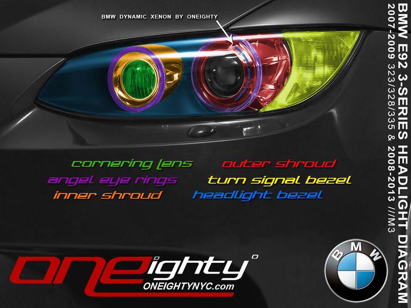 Oneighty Bmw E90 E92 E93 M3 Custom Headlight Upgrades Parts Services