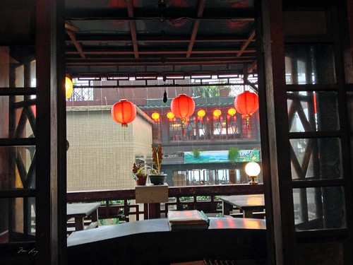View of the outside of the teahouse