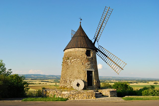 Ancient windmill in Castelnaudary, France