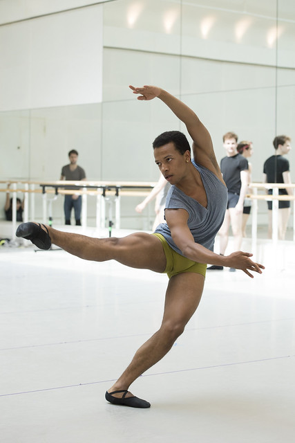 Solomon Golding in rehearsal for Connectome, The Royal Ballet © ROH/Bill Cooper, 2014