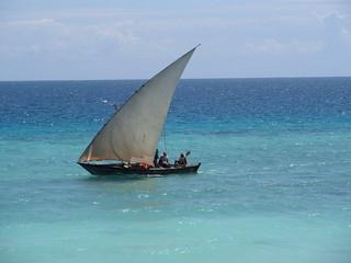 Dau vor der Küste Sansibars