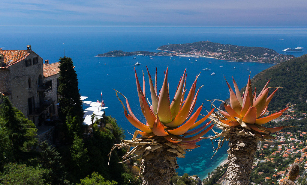 View From The Jardin Exotique Eze Cap Ferrat In The Dista Flickr