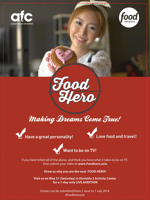 Food Hero Poster Live Audition