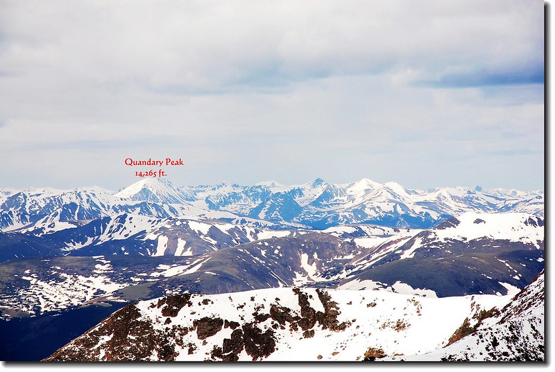 Quandary Peak as seen from Mount Evans