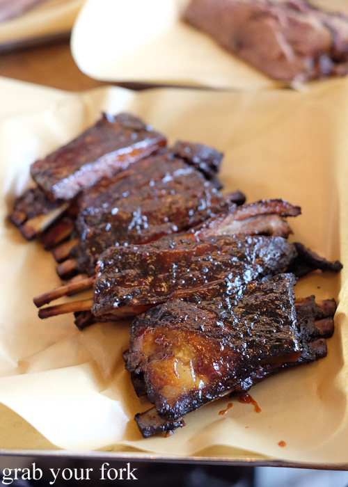 Smoked lamb ribs at Papi Chulo Manly