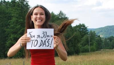Cíl: 5 km za 30 minut. 8 týdenní tréninkový plán