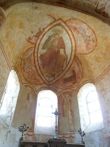 Lavardin church frescoes