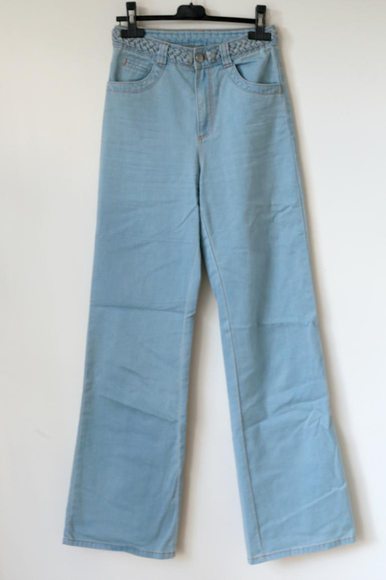 taillebroek jeans h&m divided wijde pijpen
