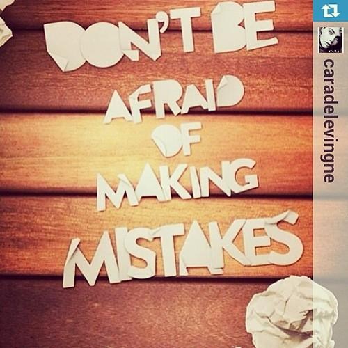 No tengas miedo de cometer errores