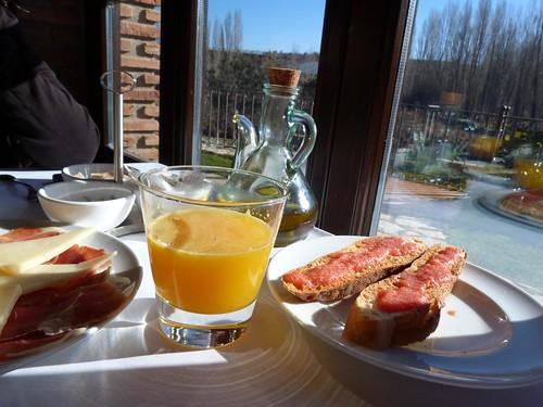 Desayuno en Hotel Los Ánades (Abánades, Guadalajara)