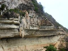 La conque de Cala di Labra et ses stalactites