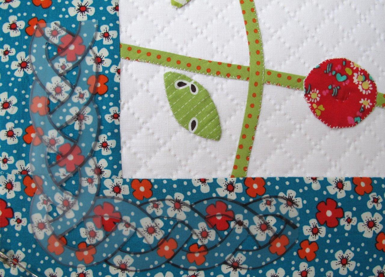 a quilting template for the outer border