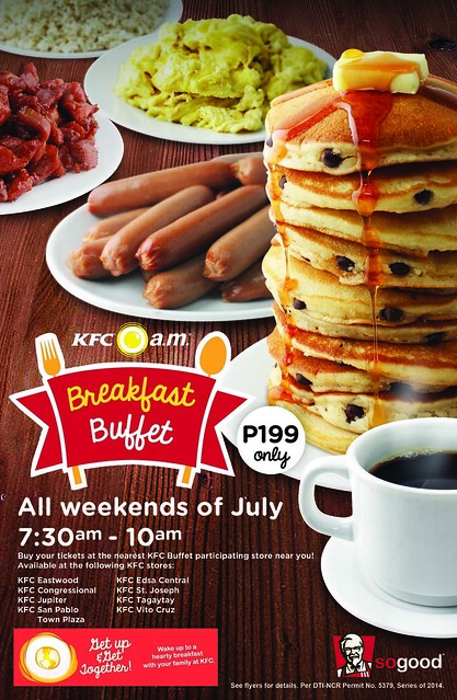 KFC Philippines A Firm Supporter Of Enjoying Breakfast With The Family Re Introduces Its Hearty Selection Am Meals Which Is Meant To Be