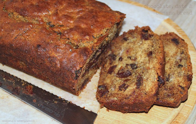 Chocolate, Date & Banana Bread 2