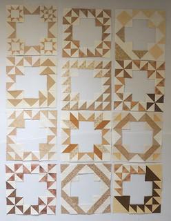 12 frames made from HST Sampler Blocks