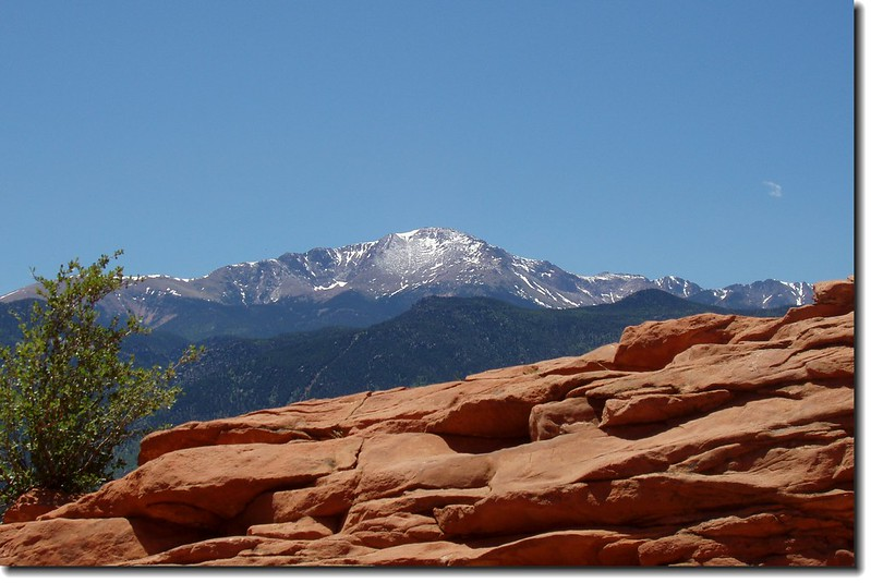 Overlooking Pikes Peak from Sleeping Giant