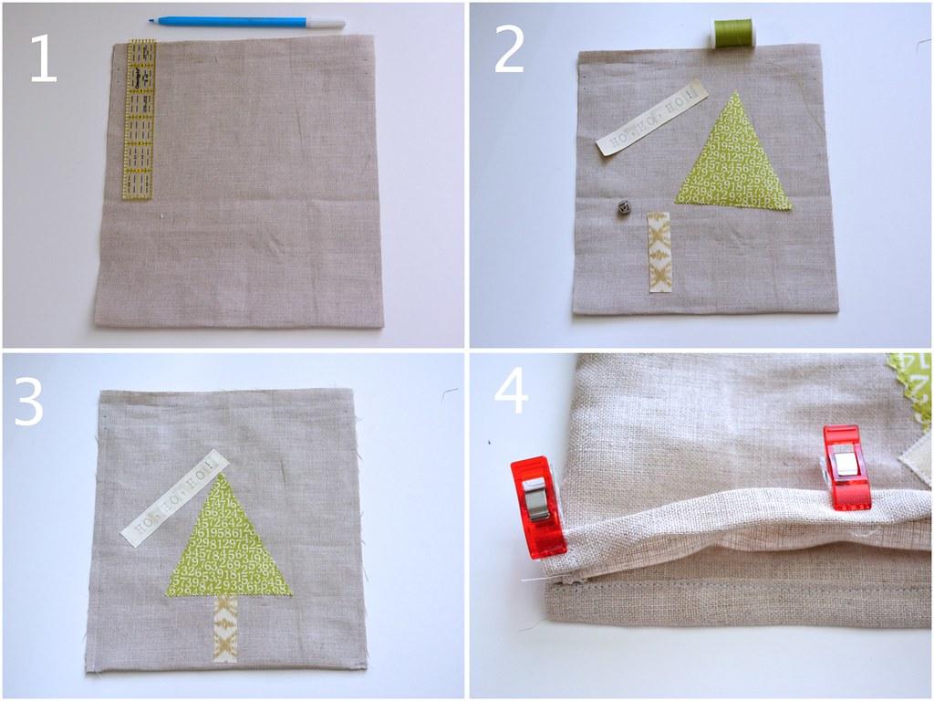 Collage - Tutorial Christmas bag