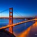 San Francisco Morning Blue by davidyuweb