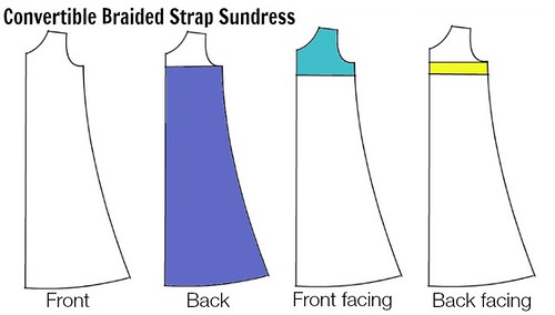 Braided strap sundress pattern key