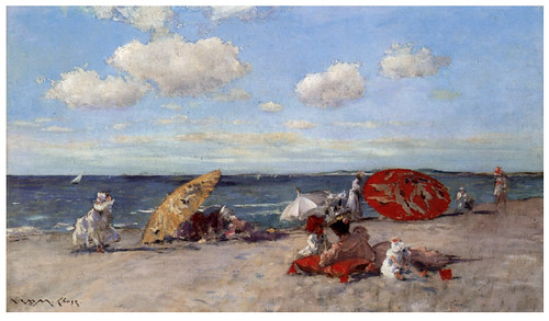 009 A orillas del mar-1892-Pintura al oleo- William Merritt Chase