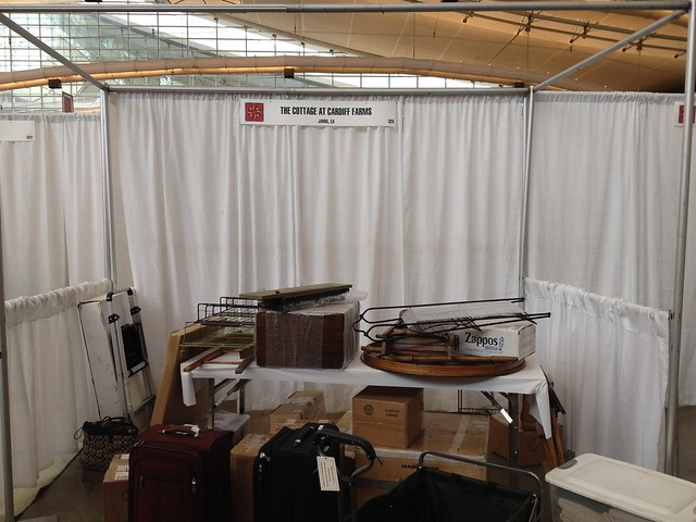 Spring 2014 Market Booth Before