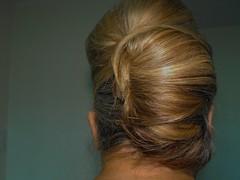 nose(0.0), chin(0.0), face(0.0), ringlet(0.0), french braid(0.0), forehead(0.0), braid(0.0), hairstyle(1.0), chignon(1.0), bun(1.0), hair(1.0), brown hair(1.0), blond(1.0), hair coloring(1.0),