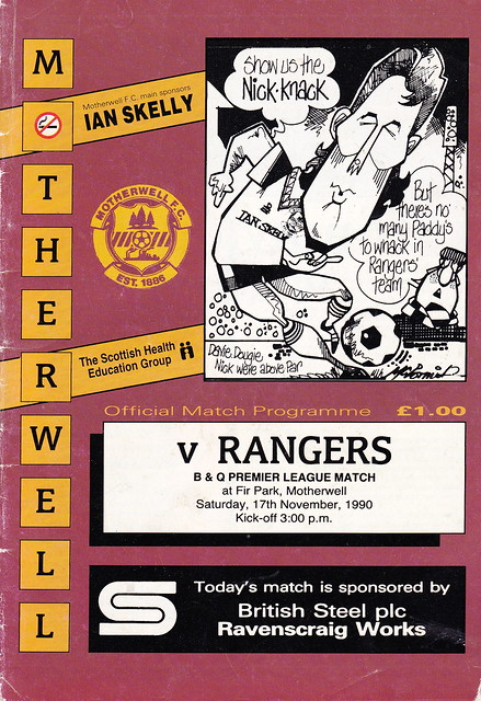 Motherwell vs Rangers - 1990 - Cover Page