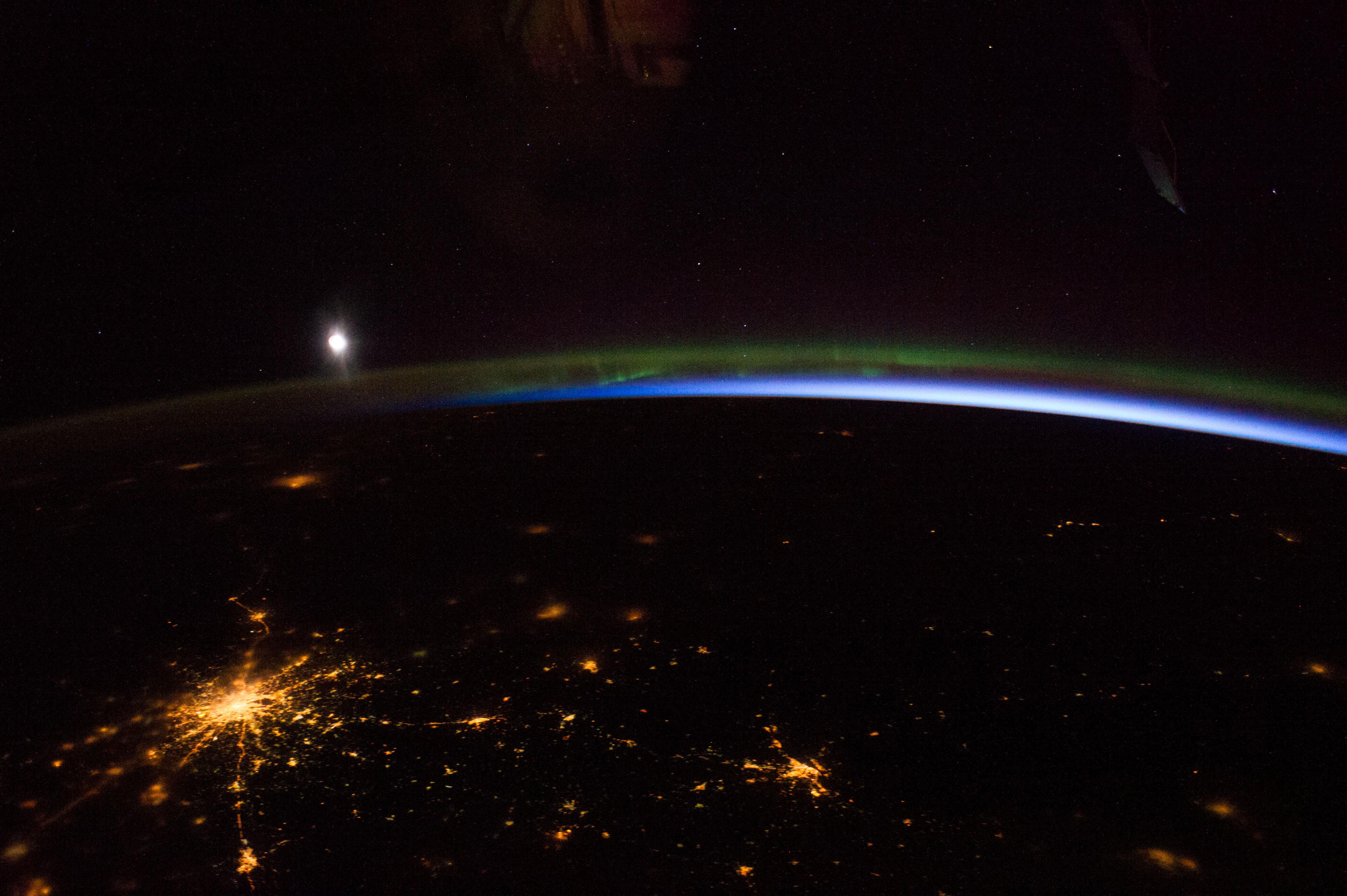 Aurora Borealis Over Russia and Finland (NASA ...