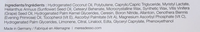 Mereadesso Lip Treat ingredients