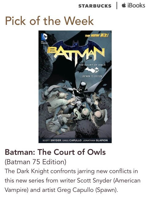 Starbucks iTunes Pick of the Week - Batman: The Court of Owls
