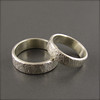 Cross Hatched Wedding Band Set