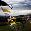 When the tour leaves town / driving along the route of the Tour de France near Halifax, England a week after its been / blown away by all the decorations and miles & miles of flags & bunting - should be a permanent fixture / #tourdefrance #yorkshire #outa