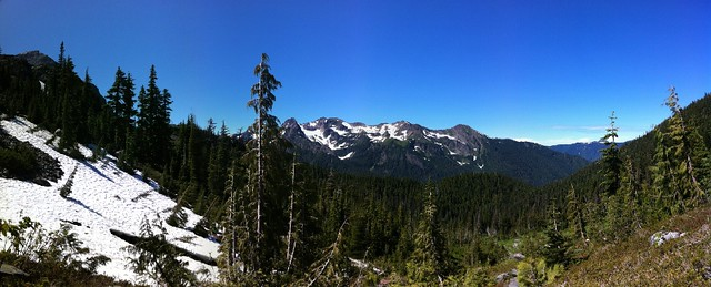 View From Ridge Above Glacier Meadow