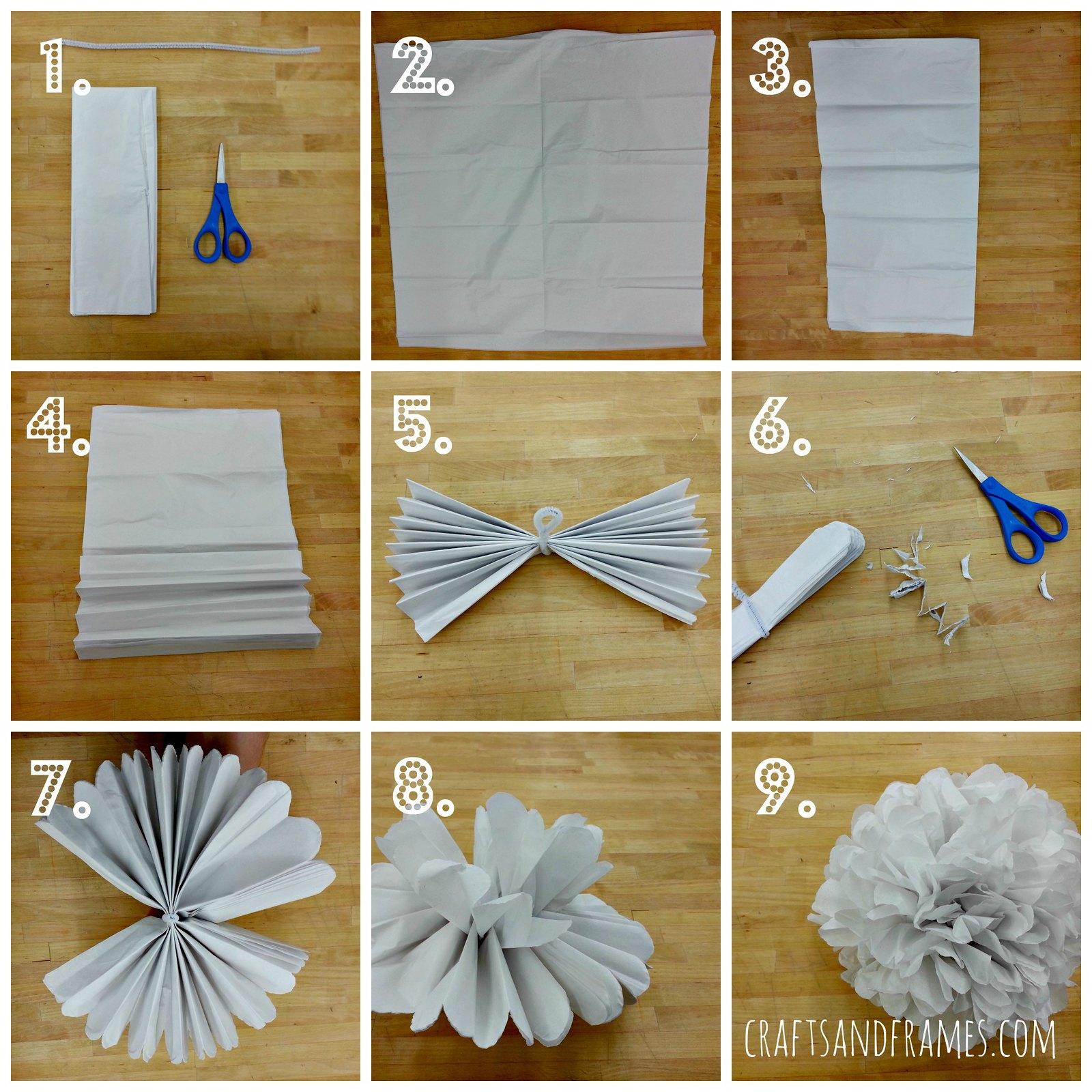 how to make paper pom poms copywriterbioelements. Black Bedroom Furniture Sets. Home Design Ideas
