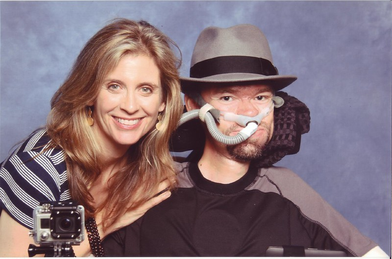 Helen Slater leaning close to Daniel Baker