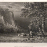 GC237 Albert Bierstadt; A Halt in the Yosemite Valley; Engraving - From The Graham and Barbara Curtis Collection