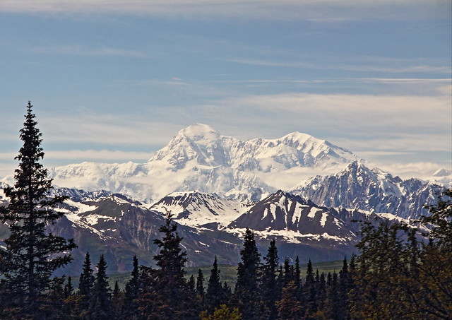 View of Mt McKinley from train 10-20140623