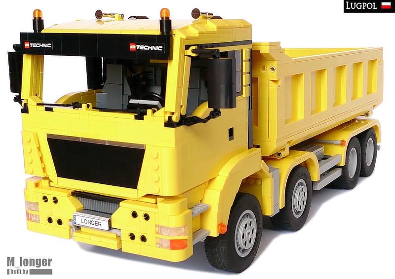 Moc Man Tgs 8x4 Dump Truck Lego Scale Modeling Eurobricks Forums