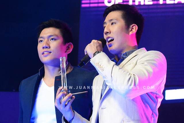 MALE HOTHLETE OF THE YEAR. Jeron and Jeric Teng are the Male Hothlete of the Year 2014 Yahoo Celebrity Awards.