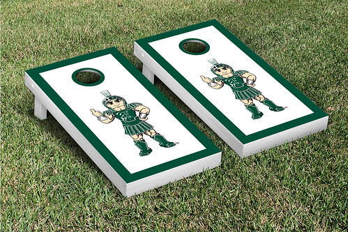 Michigan State Spartans Cornhole Game Set Border Sparty