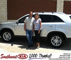 #HappyAnniversary to Esmirelda Peters on your 2014 #Kia #Sorento from Paula Lovejoy at Southwest KIA Rockwall!