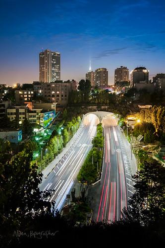 road city longexposure light sunset sky iran tunnel trail tehran hdr hakim resalattunnel resalatexpressway