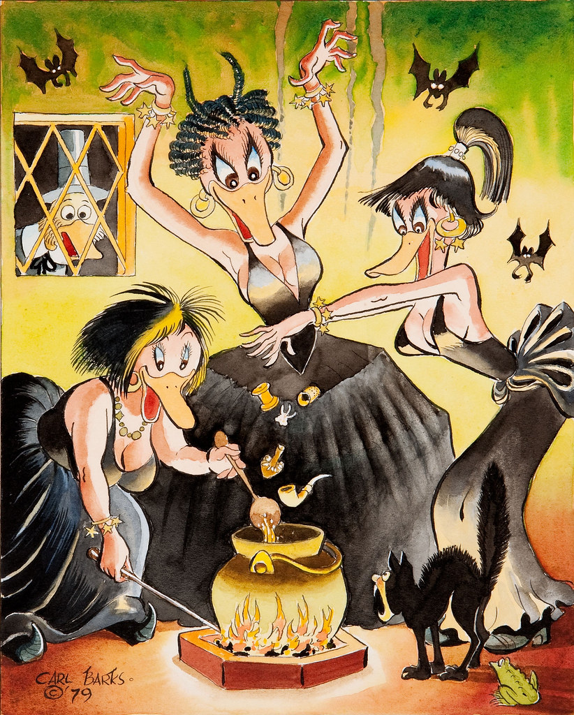 Carl Barks The Witches of Salem, 1979