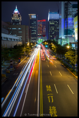road street city light urban building modern night skyscraper canon dark eos evening asia long exposure cityscape view traffic dusk south taiwan trails east taipei southeast nightfall 1755mm 60d